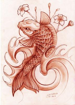 Lorien Tattoo Pez Koi Dise 241 O Tatuaje Koi Fish