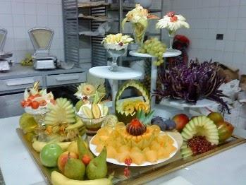 Buffet de ana mesas de fruta for Secar frutas para decoracion