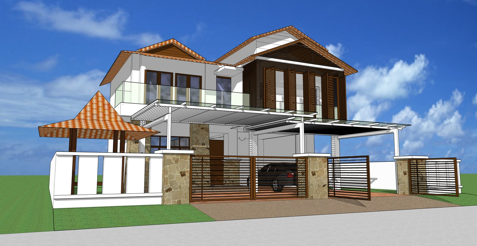 Plan Rumah Semi D http://architrenddesign.blogspot.com/
