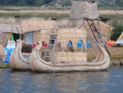 Reed Boats and Floating Platforms, Uros Islands, Lake Titicaca