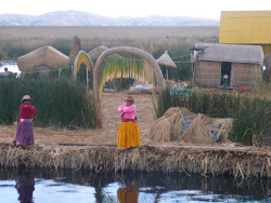 Detail of Reed Platforms, Uros Islands, Lake Titicaca