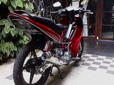 Modifikasi Yamaha Jupiter Z ekstrim MINIMALIS brush mx