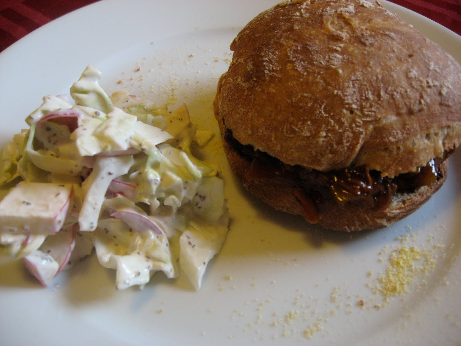 Fabulous and Delicious: Homemade Sandwich Rolls, BBQ Beef, and Cabbage ...