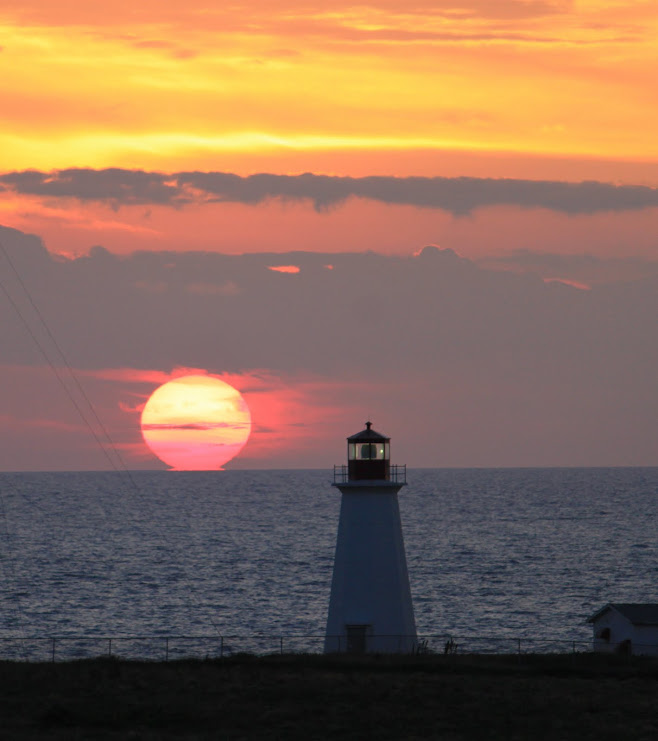 Sunset Cheticamp Lighthouse NS