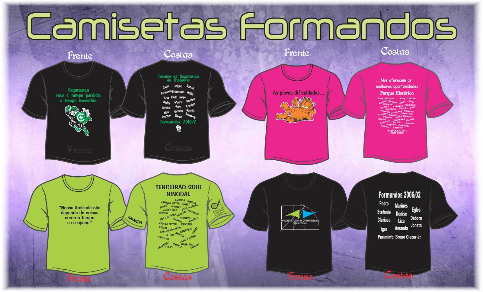 Camisetas Para Escolas   Formandos
