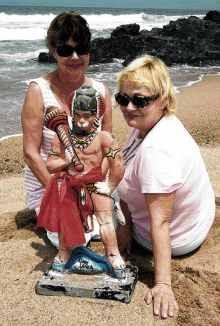 hanuman idol found in seashore southafrica