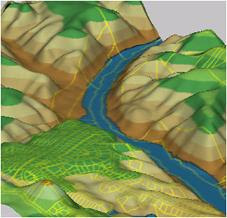 Sample 3D Surface Analysis performed with AutoCAD Map 3D