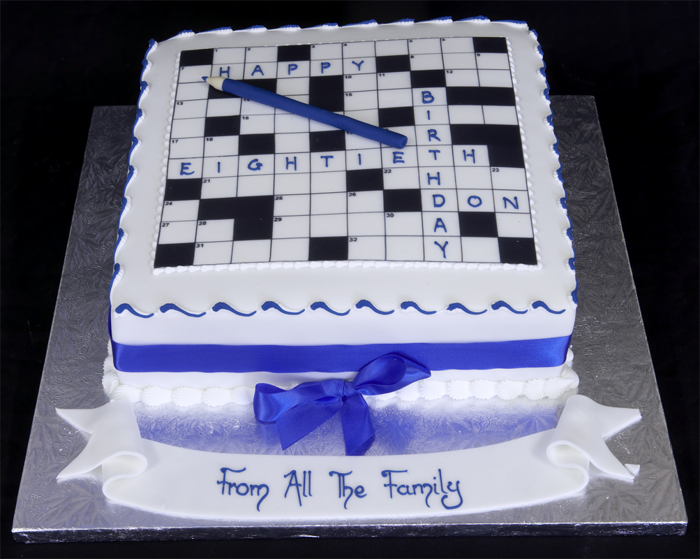 Pin Pin Crossword Puzzle Cake Birthday Cakes On Pinterest ...