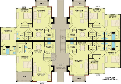 8 Unit Apartment Building Plans