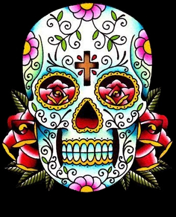 mexican day of dead skull tattoo. day of dead skull drawing. day