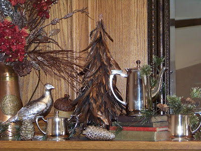love the way my mantel worked out this fall. And I would just leave