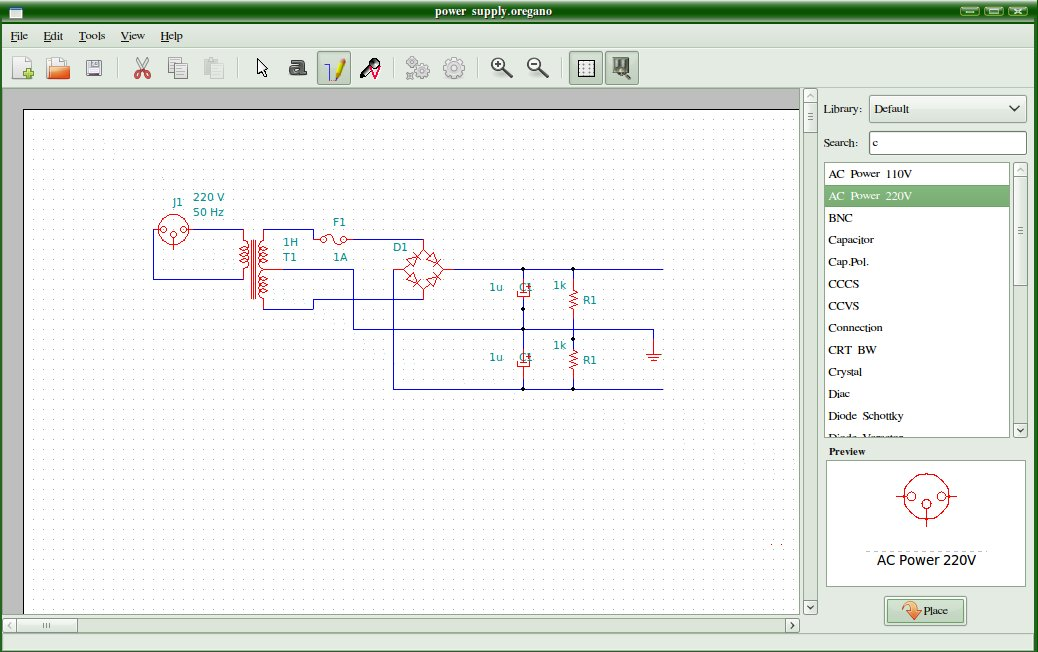 Sabily Blogsphere Oregano Electronics Schematic Drawing