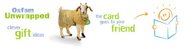 Oxfam Unwrapped: the card goes to your friend.