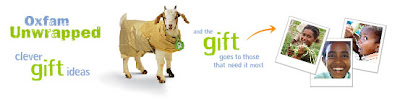 Oxfam Unwrapped: and the gift goes to those that need it most.