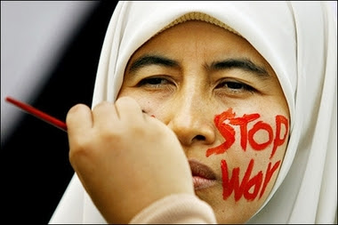 Stop War - face painting.