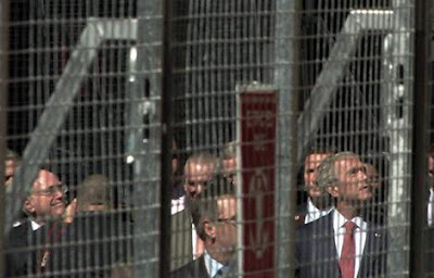 Wishful thinking - Howard and Bush behind bars.