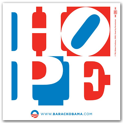 Obama 'Hope' poster by Robert Indiana.