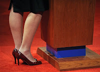 Sarah Palin's VP debate shoes.