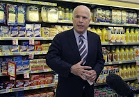 John McCain in the cheese aisle.