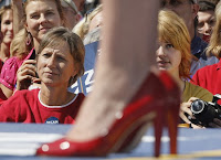 Sarah Palin's shoes at a rally on September 10th.