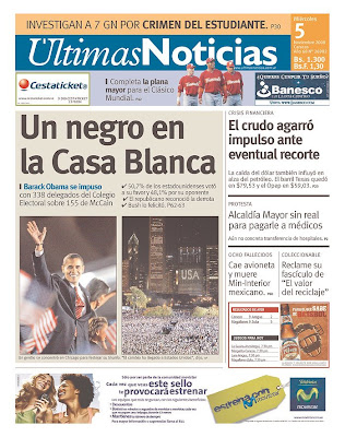 Ultimas Noticias, Caracas, Venezuela.