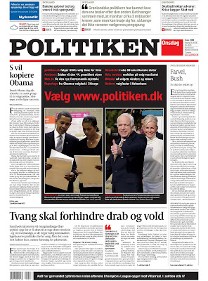 Politiken, Copenhagen, Denmark.