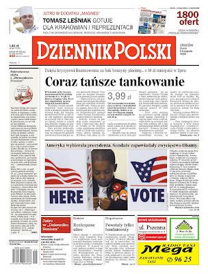 Dziennik Polski, Krakow, Poland. <br />