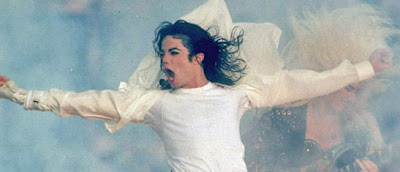 Michael Jackson performing at the Superbowl.