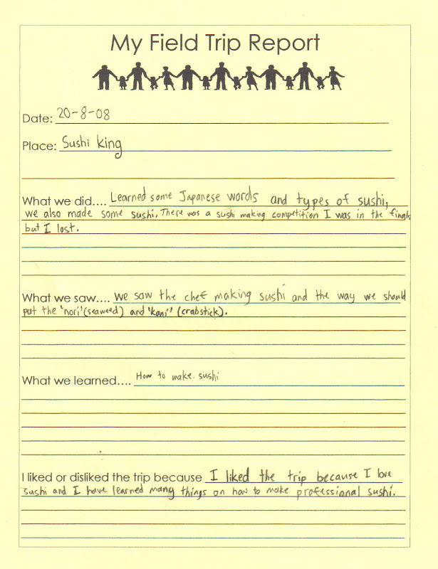 fieldtrip report Sample field trip report template   what are the uses and purpose of trip report templates a good trip report is always essential for any kind of trip taken for .