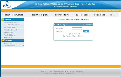 irctc login, irctc ticket availability & reservation, PNr Status