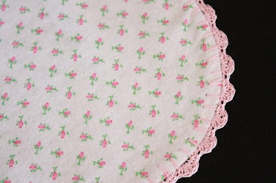 Crocheting Edges On Baby Blankets : SewChic: Crochet Edged Baby Blanket