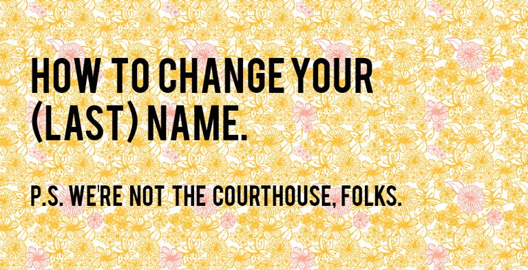 How to change your (last) name