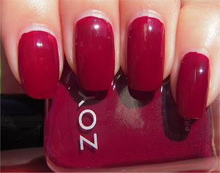 raspberry red creme nail art