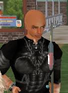 Second life - male avatar ate a spoiled apple