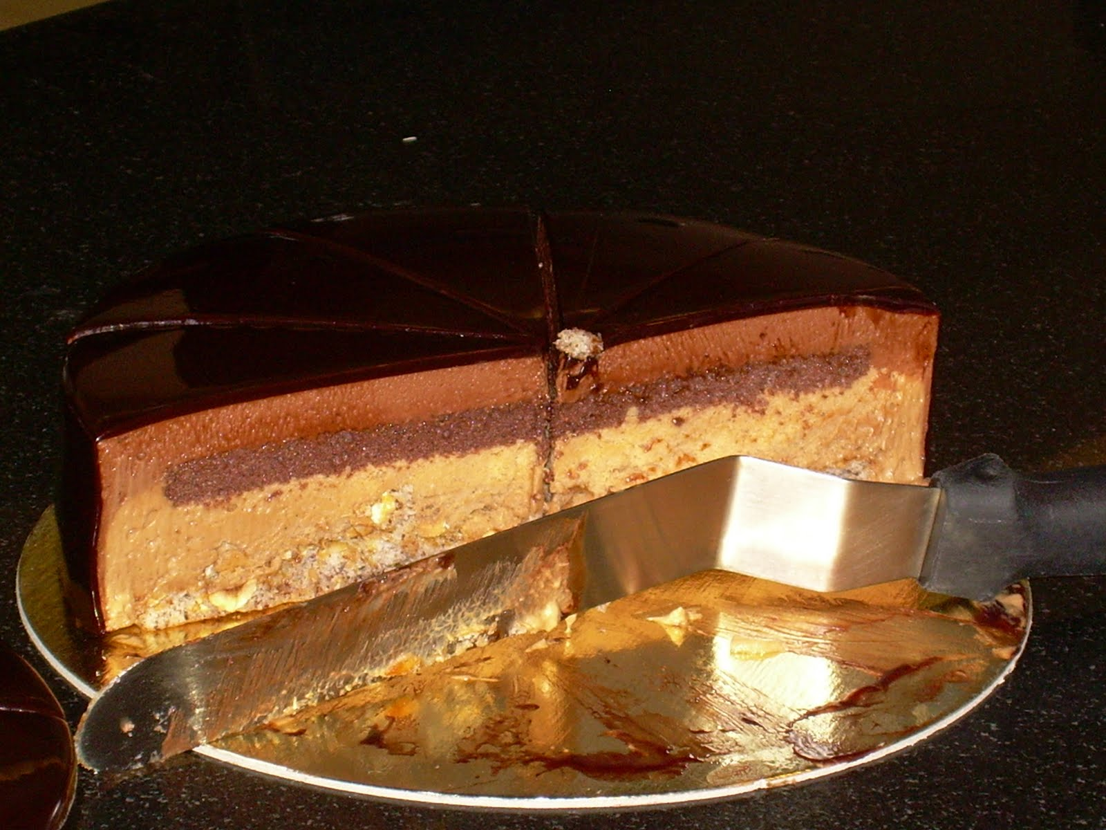 cake chocolate hazelnut mousse chocolate glazed hazelnut mousse cake ...