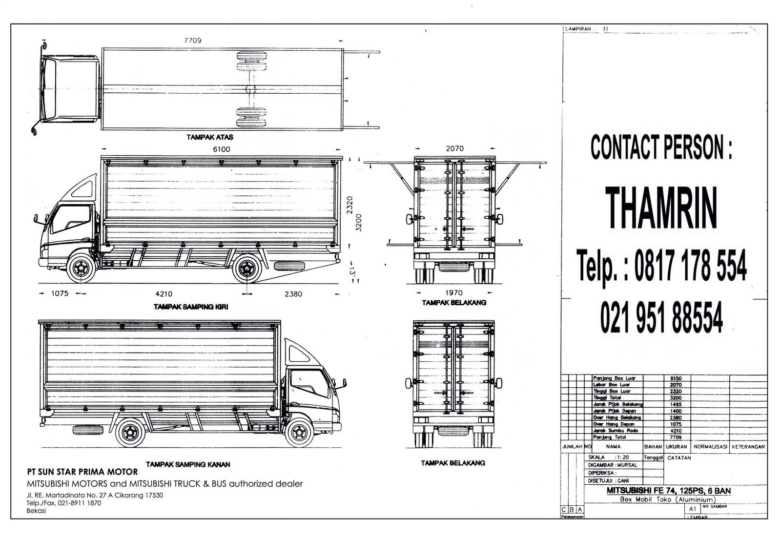 dealer truck mitsubishi  spec karoseri wing box