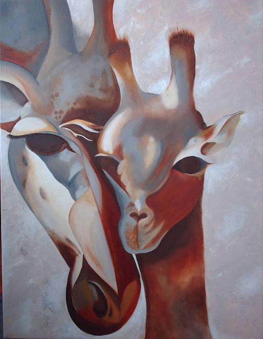 jirafas en oleo