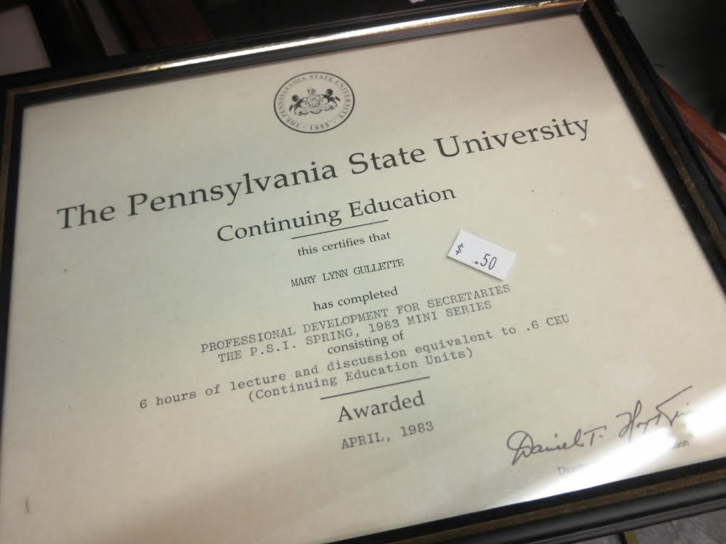 Robert nguyen blog thrift store visit mary lynn gullettes diploma from penn states continuing education program 1betcityfo Choice Image