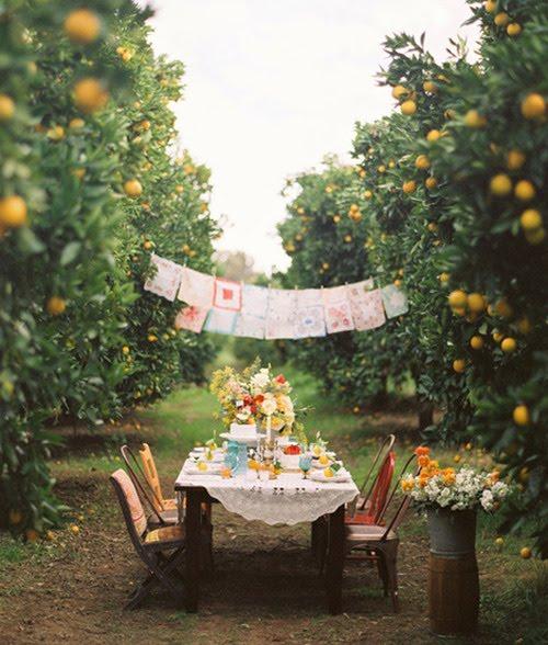 fauna decorativa deco mesas al aire libre setting the