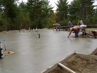 Building a Small House in Maine Concrete Slab