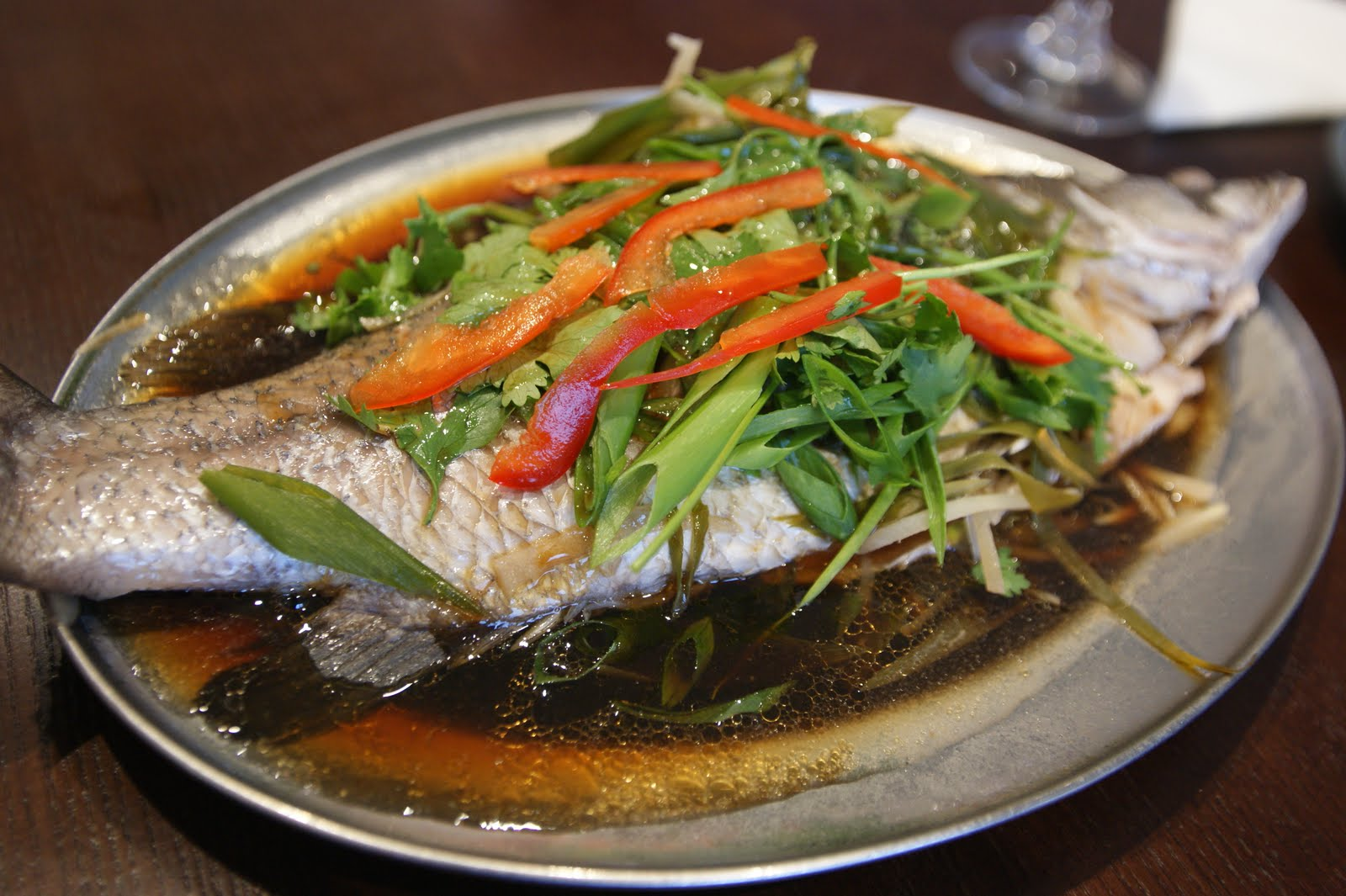 Chinese style steamed fish for Chinese steamed fish recipe
