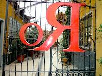 Galleria Rossana Orlandiの門。