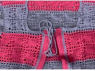 Salita de Crochet: Chaleco Bicolor para niña