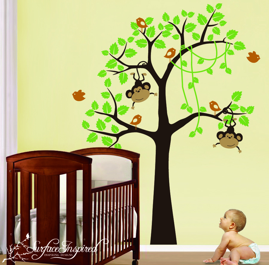 the surface inspired blog new monkey wall decals for your little monkey. Black Bedroom Furniture Sets. Home Design Ideas