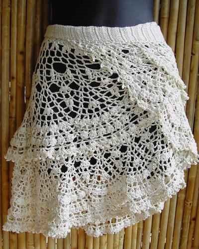 Free Crochet Pattern For Cowgirl Skirt : ANGELESMARIN: falda a crochet