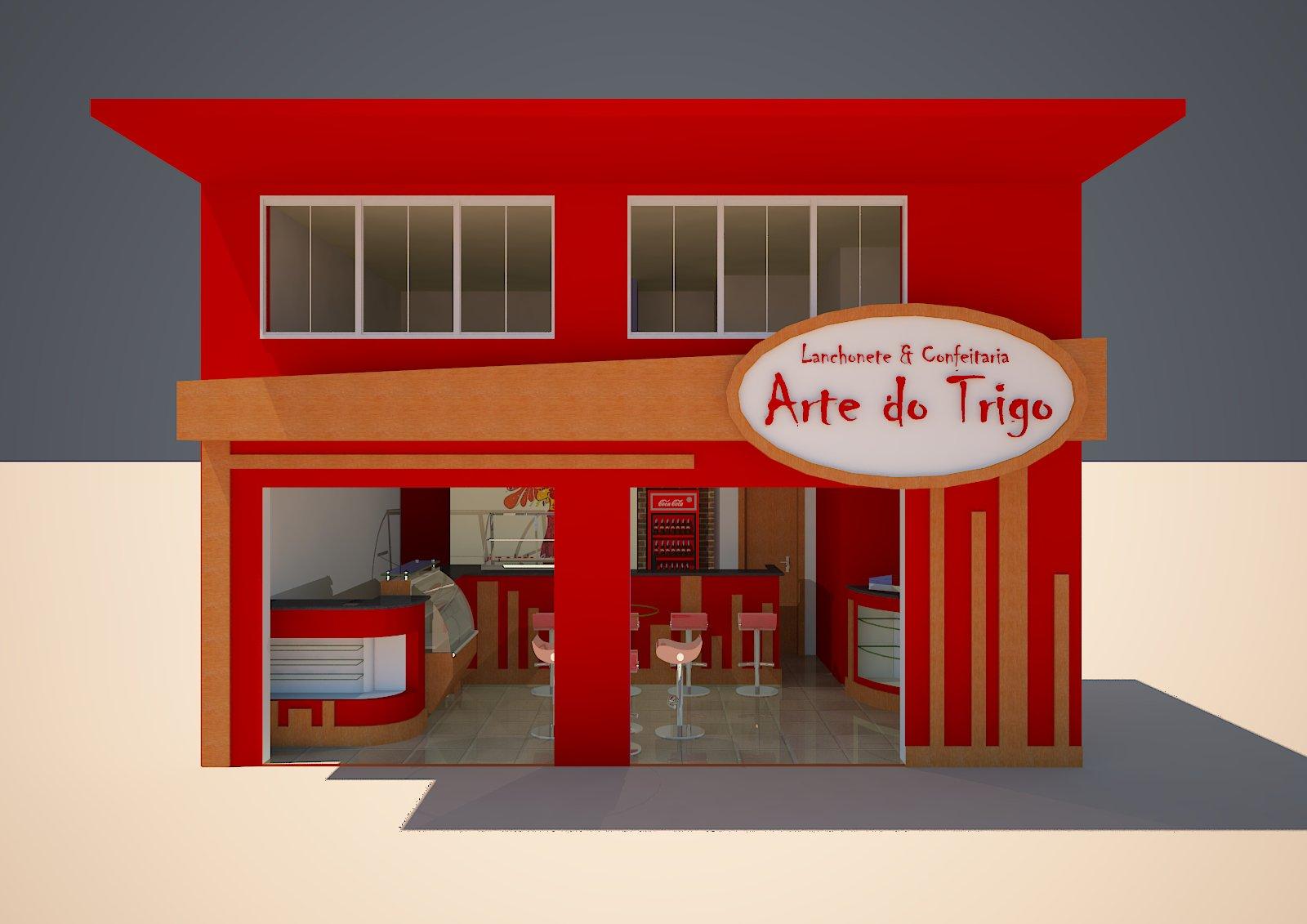 us Arquitetura: Lanchonete e Confeitaria Arte do Trigo Teófilo  #B30302 1600 1131