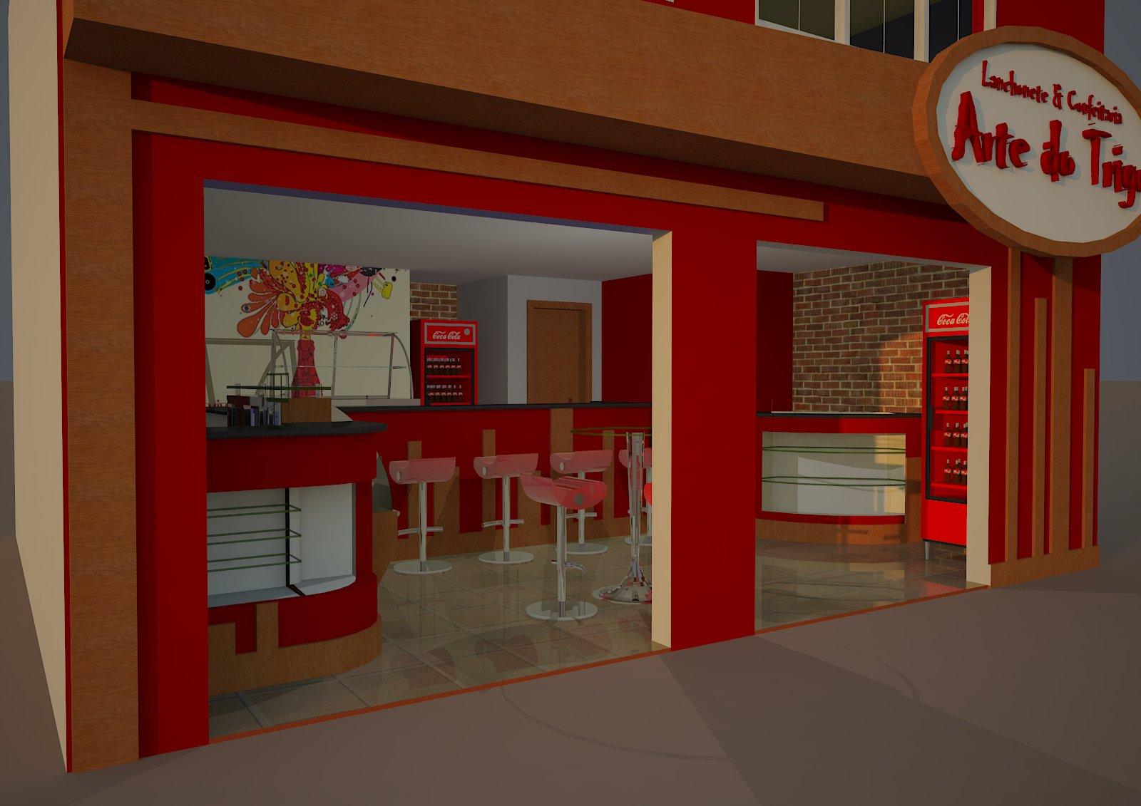 #C30A08 us Arquitetura: Lanchonete e Confeitaria Arte do Trigo Teófilo  1600x1131 px Projeto Cozinha Confeitaria #2489 imagens