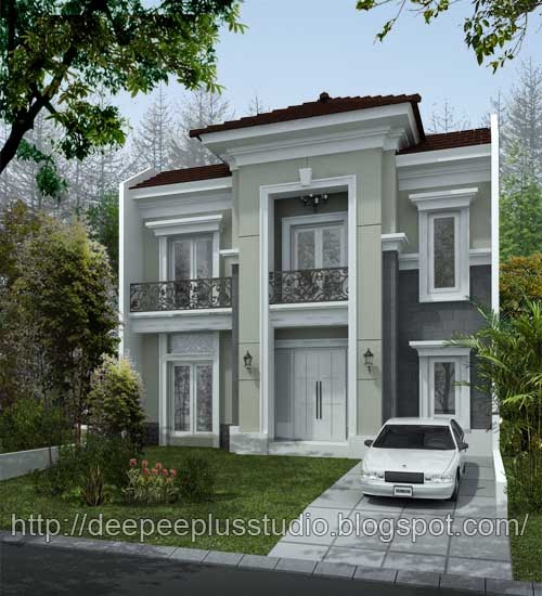 Modern house 2011 design classic modern house malang for American classic house mouse