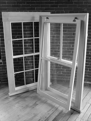 Storm windows can be added each winter. Operable storm windows, like