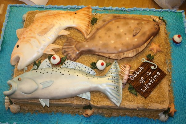 fishing cake toppers for wedding cakes